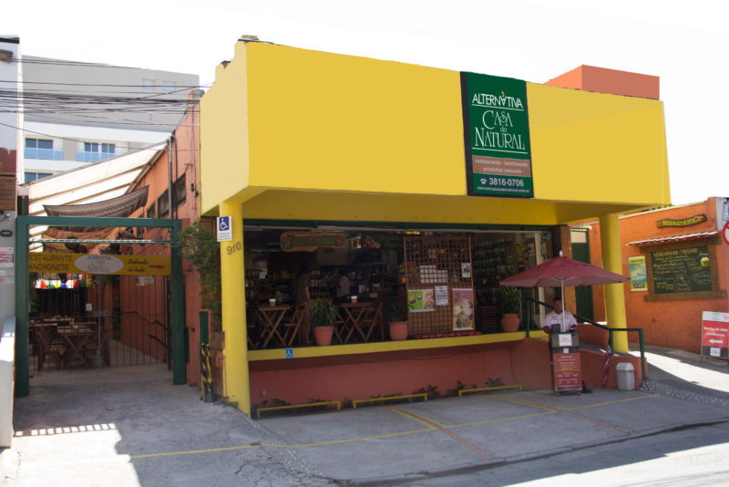 Fachada, Alternativa Casa do Natural-Vila Madalena, São Paulo SP
